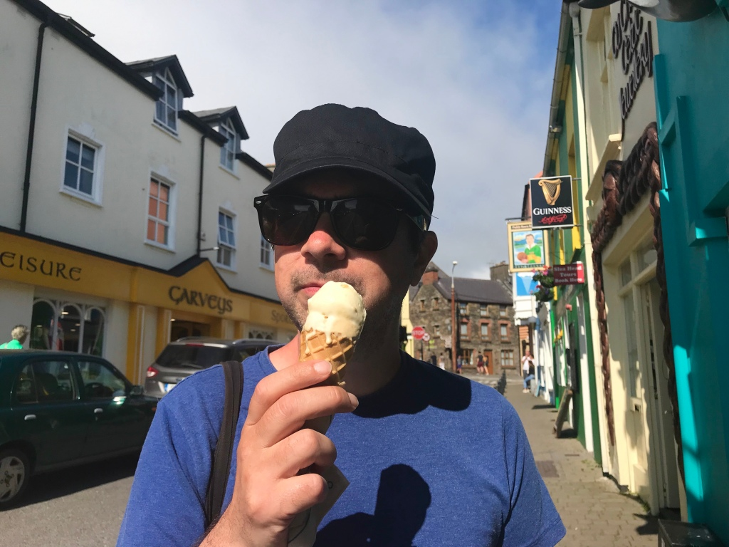 Ian with an ice cream from Murphys