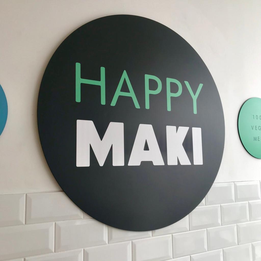 happy maki sign - gimme veg