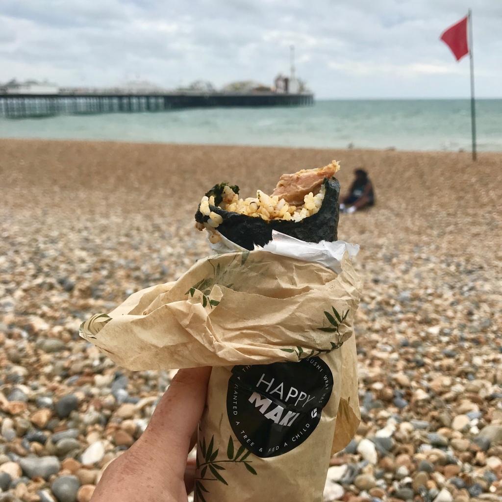happy maki on the beach - gimme veg